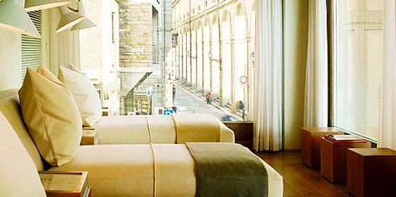 Designhotel met uitzicht op de Ponte Vecchio in Florence