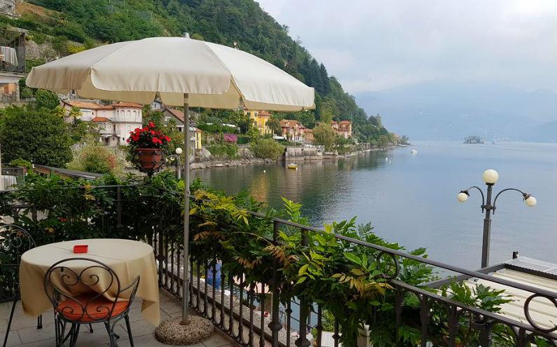 Lago Maggiore – Sfeervol hotel met zwembad direct aan het meer in Cannero Riviera